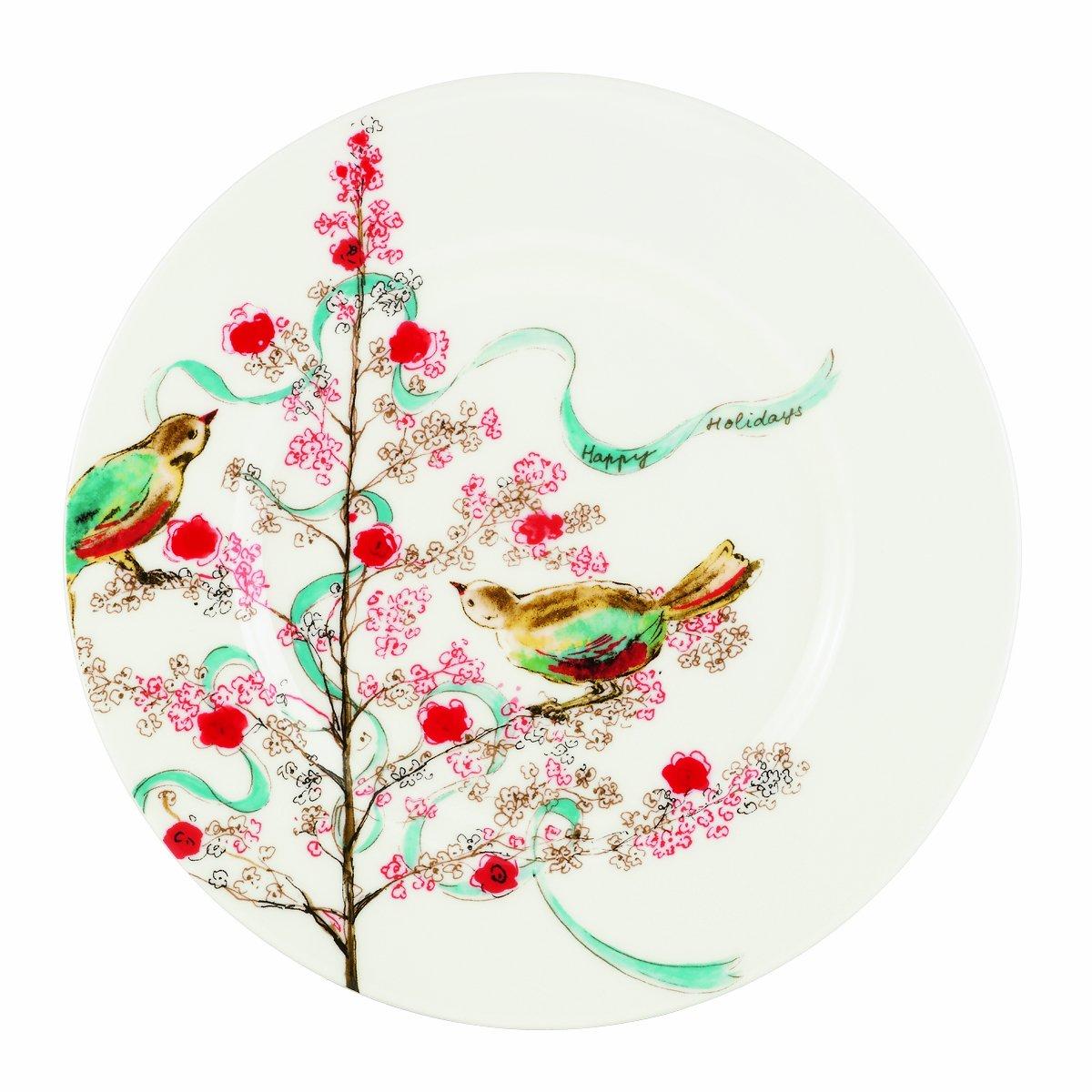 Amazon.com: Lenox Simply Fine Chirp Seasonal Salad/Luncheon Plate ...