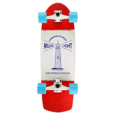 Miller SURFSKATE LIGHTHOUSE + SEISMIC S01SS0007-E Skateboard Surfskate- En bois