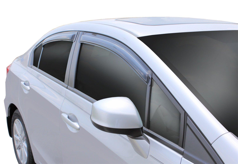 4 Piece Auto Ventshade 94462 Original Ventvisor Window Deflector