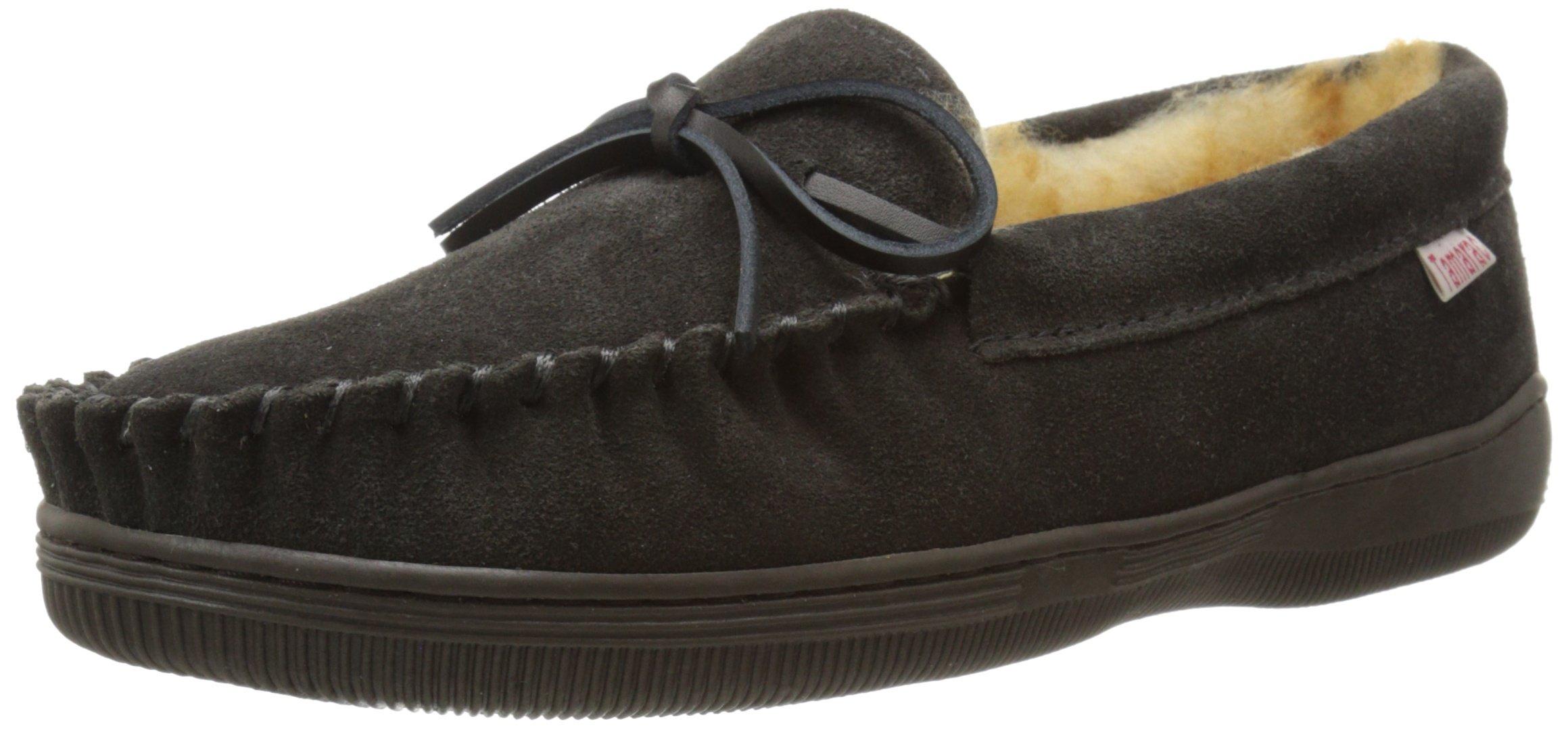 Tamarac by Slippers International Men's Camper Slip-On Loafer, Charcoal Grey, 12 M US
