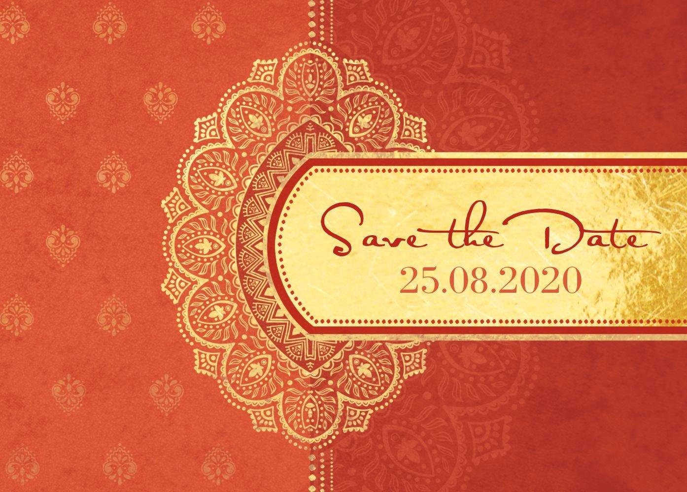 Save-the-Date Mumbai, 30 Karten, DunkelMattRot B07B6NKG6Y | Heißer Verkauf  Verkauf  Verkauf  | Neuer Eintrag  | Nutzen Sie Materialien voll aus  9b51ff