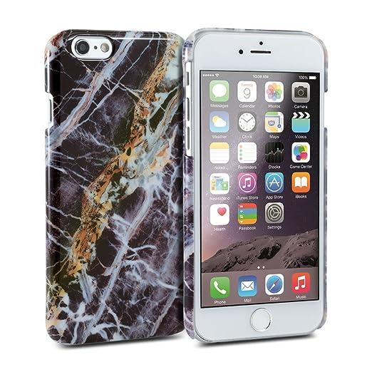 15 opinioni per iPhone 6s custodia, GMYLE Copertina lucida a scatto per iPhone 6s- Nero Marmo