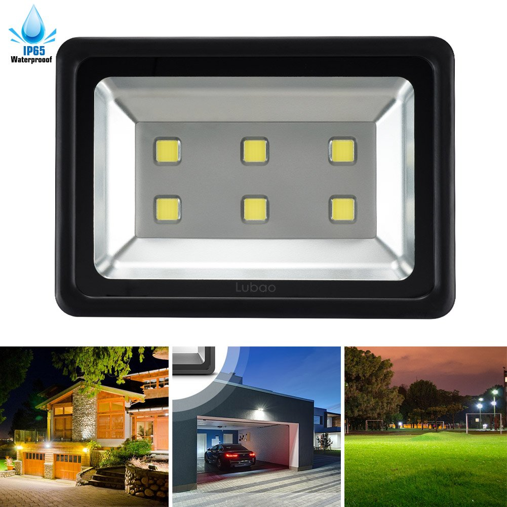 1. LuBao 300W LED Flood Light,High Power 6 LED lights