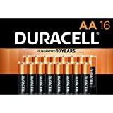 Duracell - CopperTop AA Alkaline Batteries - long lasting, all-purpose Double A battery for household and business - 16…