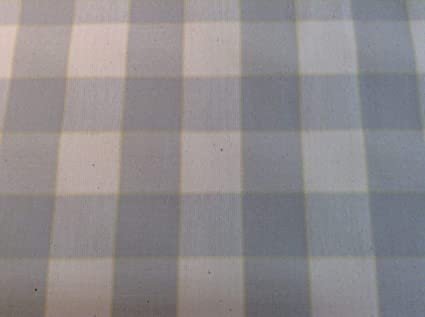 Barker /& Barker Yachting Check 140cm Sky Blue Cotton Curtain Fabric