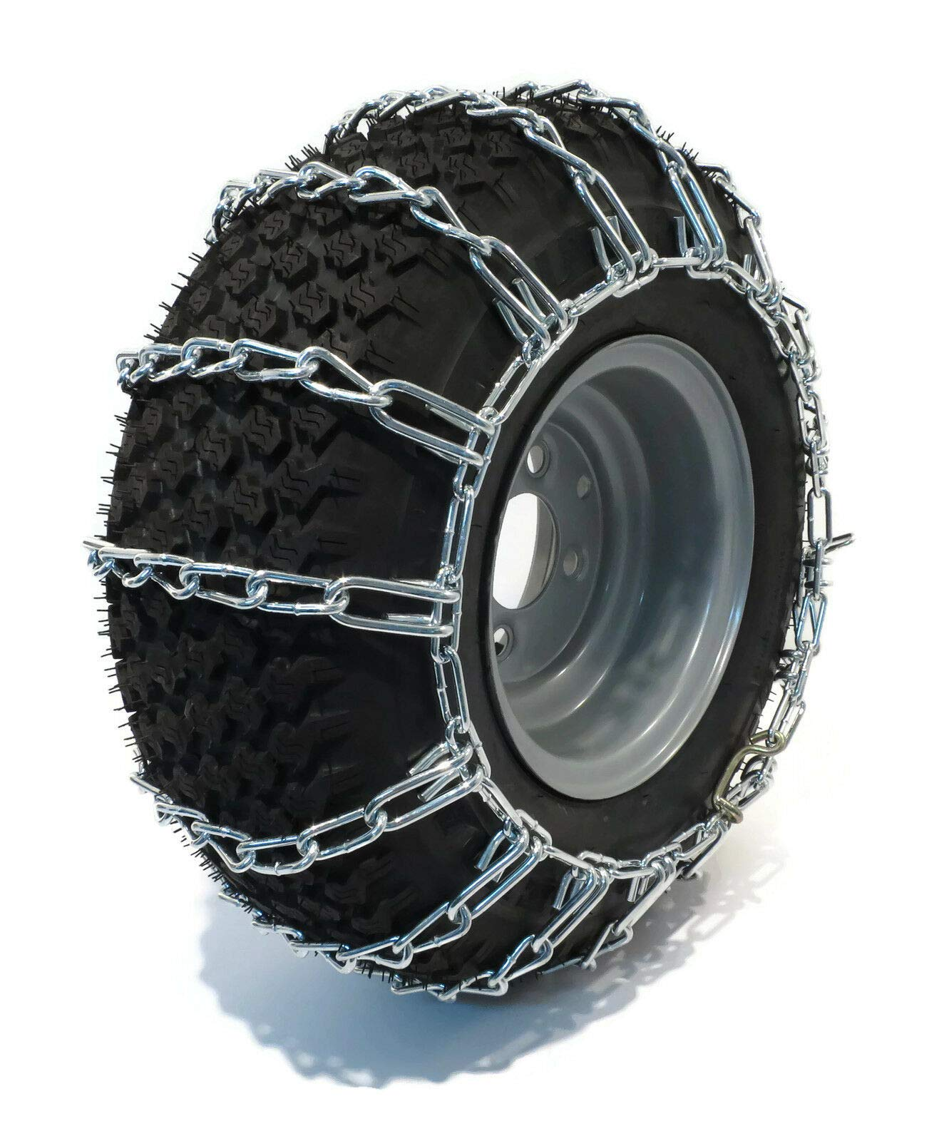 Tire Chains Tractor Mower Snow Blower Thrower 2-Link 23X10.50X12 23X1050X12, 2 Link Spacing by Tire Chains