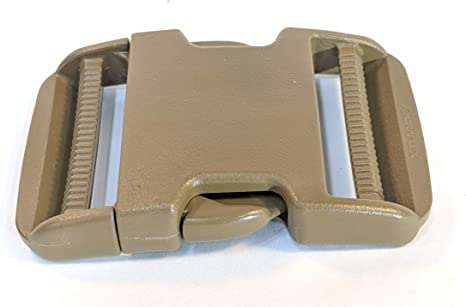 """10-NEW Duraflex Mojave 1/"""" Side Release Buckles Coyote National Molding SR"""