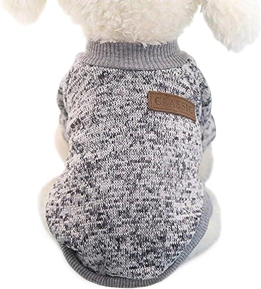 Idepet - Ropa para mascotas: jersey de forro polar para perros y gatos, S, Gris: Amazon.es: Productos para mascotas