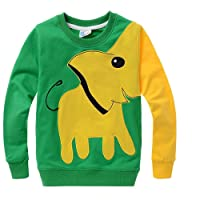 Garsumiss Boys Sweat Shirt Elephant Sweaters Animal Cotton Pullover Kids Jumpers Casual Tops