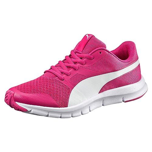 d7f447ca3b53 Puma Flexracer Jr. Kid's Trainers Shoes (4 W UK, Purple White): Buy ...