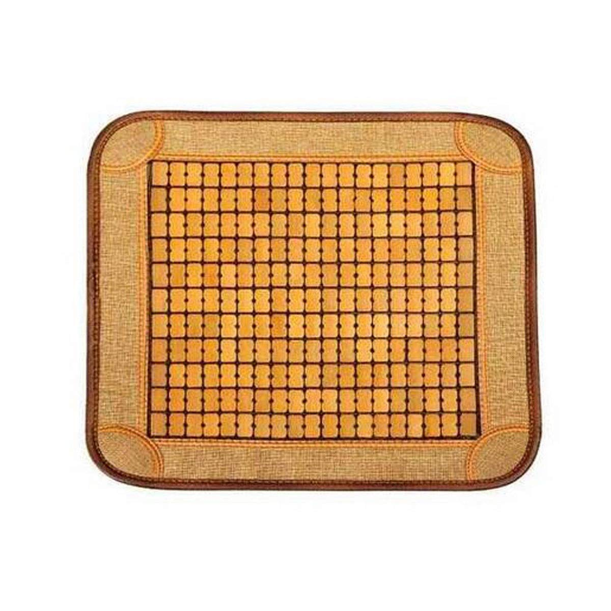 Jielongtongxun 木製マット、竹マットクッション、カーソファオフィス学生チェアクッション竹マット、ベージュマルチオプション (Color : Beige, Size : 40*40cm) B07RL9LPJ7 Beige 40*40cm