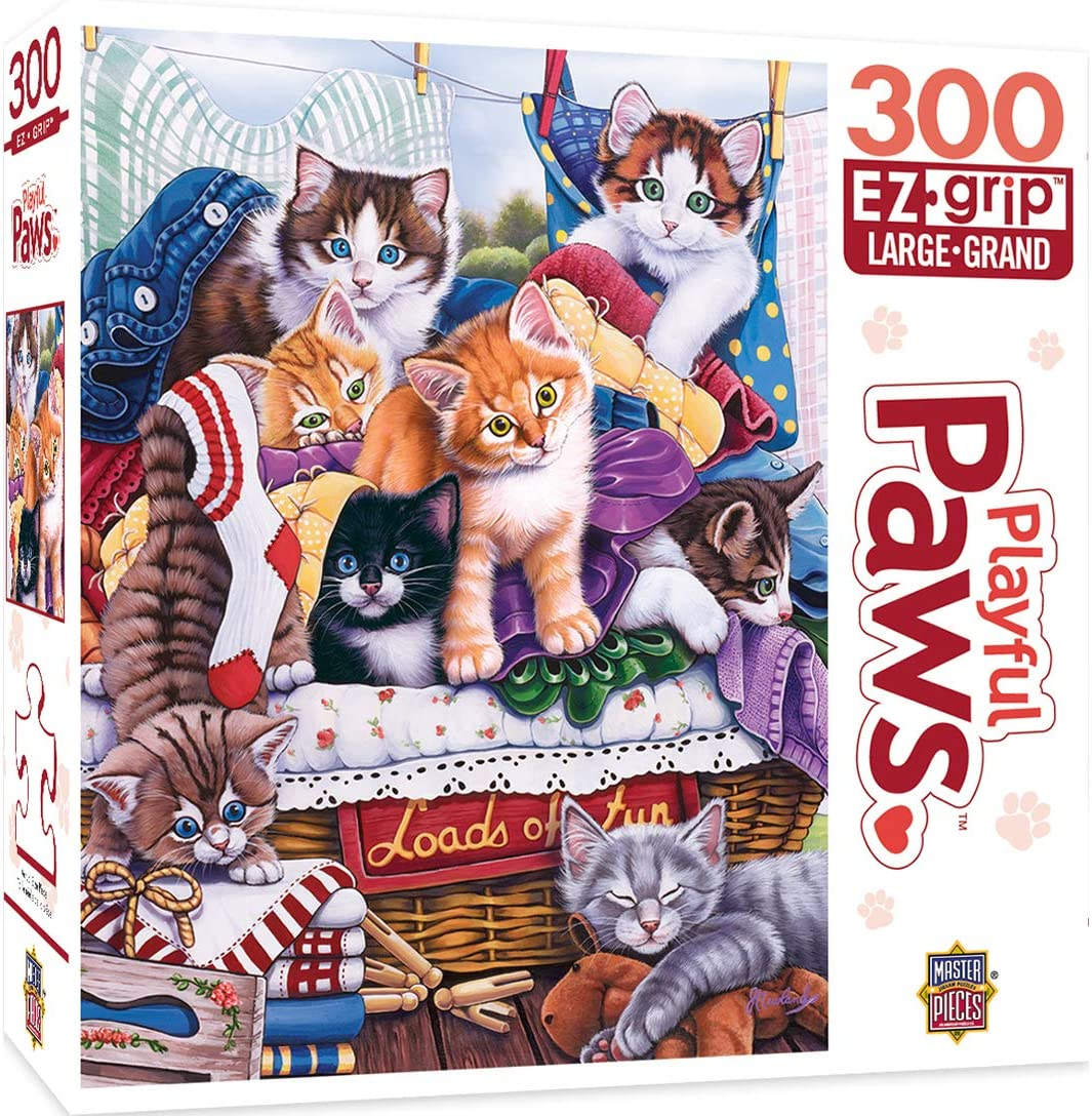 MasterPieces Playful Paws 300 Puzzles Collection - Loads of Fun 300 Piece Jigsaw Puzzle ,18