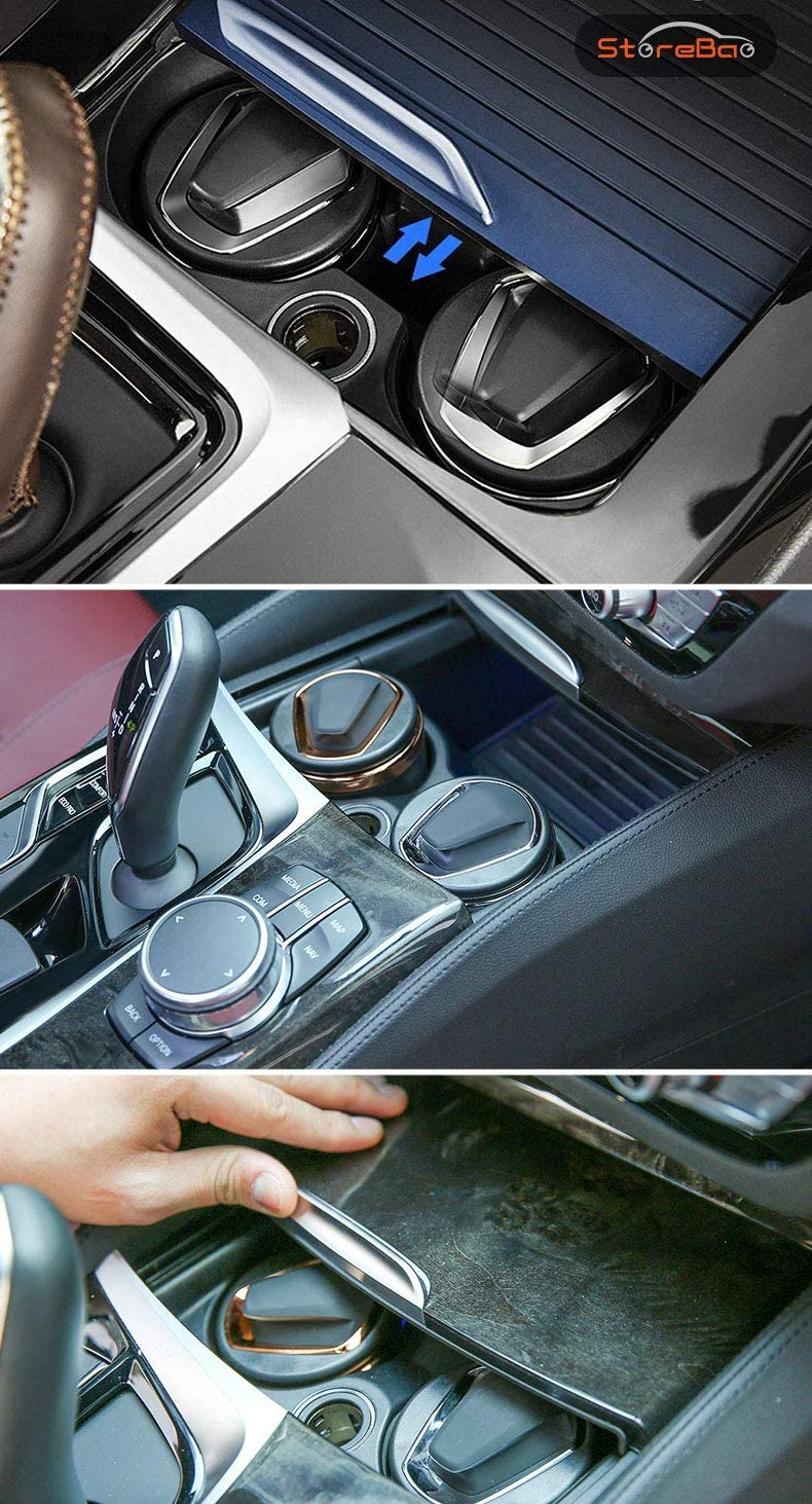 StoreBao Car Ashtray with LED Exclusively for BMW 1//3//5 Series and X1//X3//X4//X5//X6 Silver