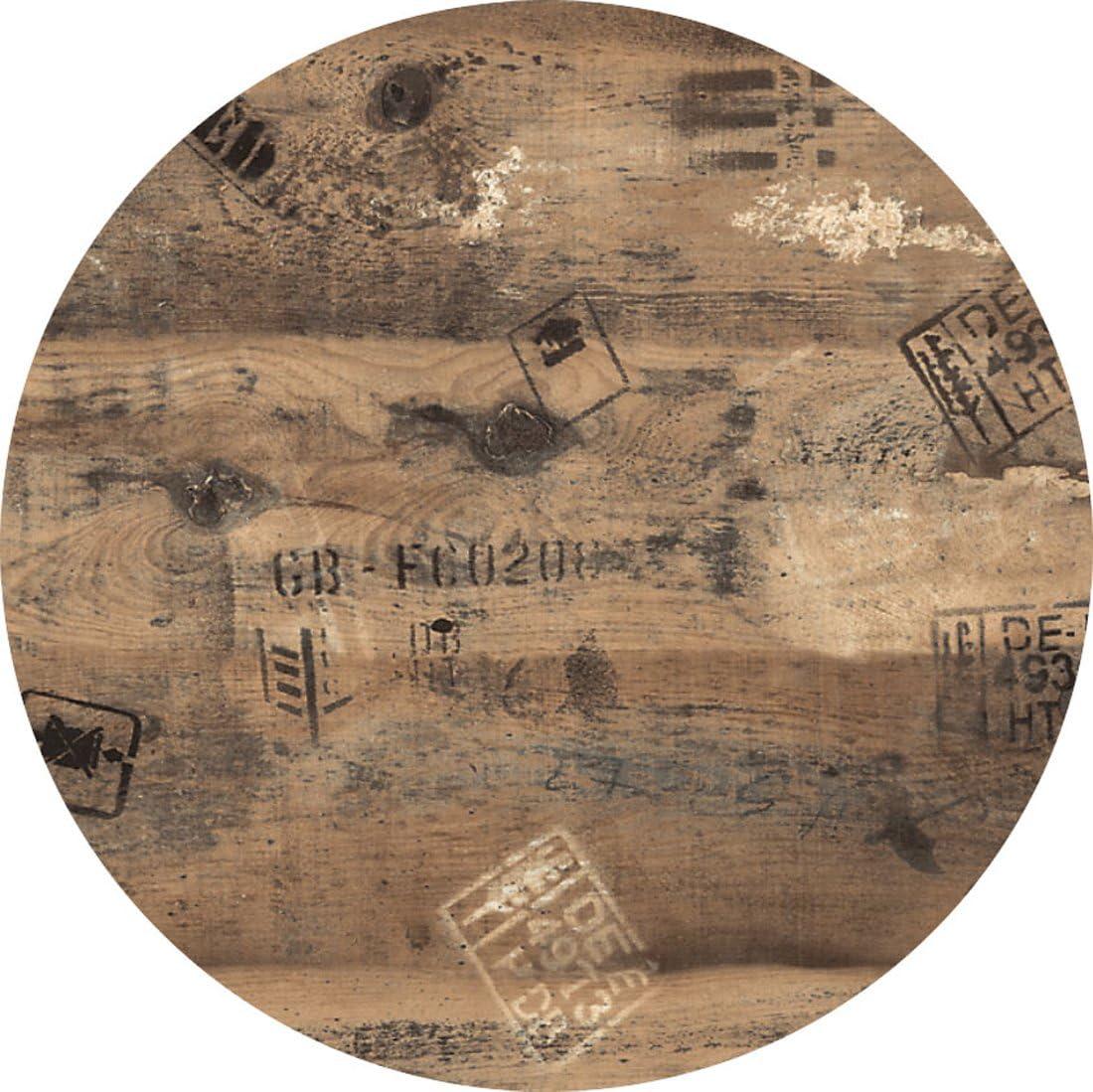 Werzalit runde Form 80 cm Bistrotisch Bistrotische hochwertige Tischplatte Ex works Gartentisch Gastronomie