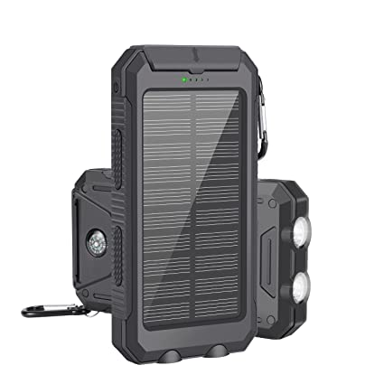 Amazon.com: Cargador solar, LSXD Solar Power Bank 10000 mAh ...