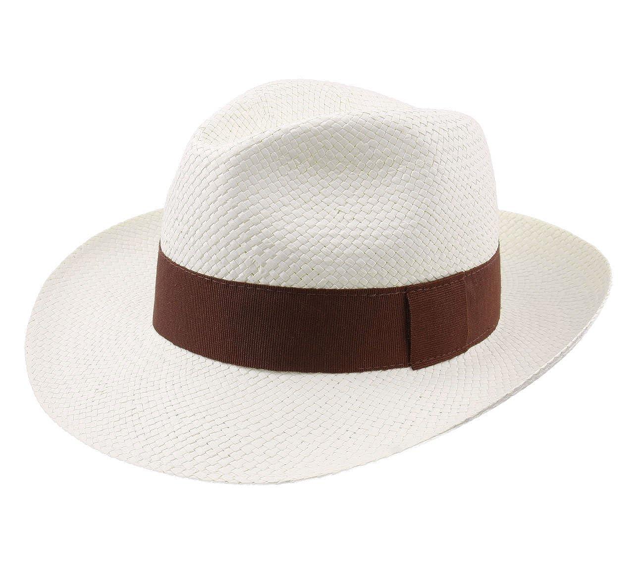 Classic Italy - Fedora Hat men Classic Paille Large