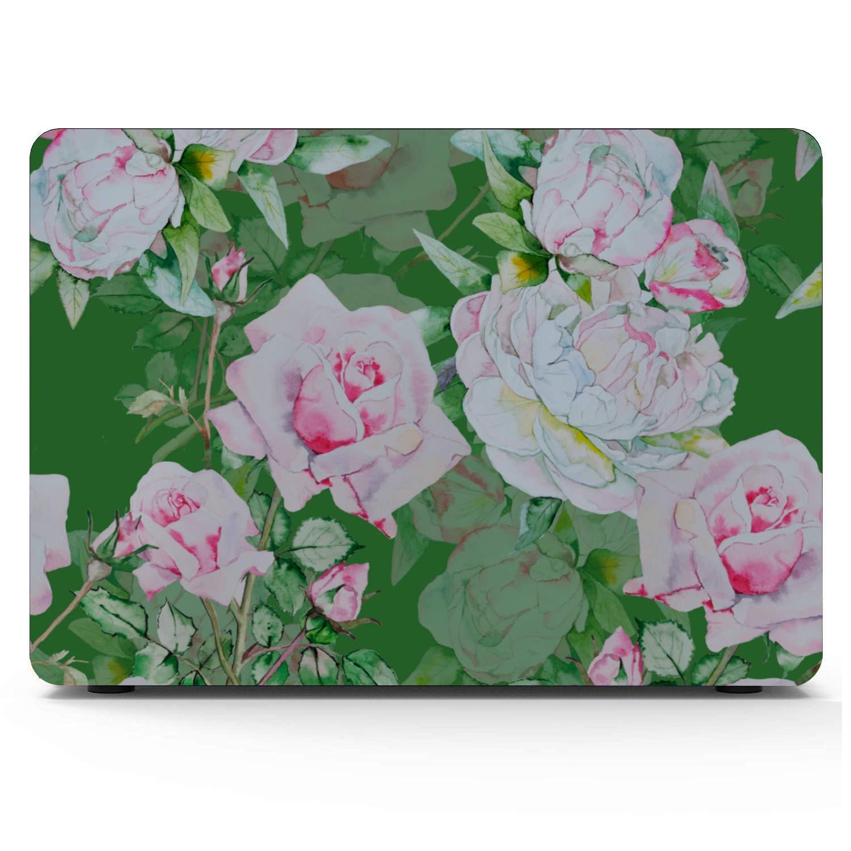 Mackbook Pro Case Spring Beautiful White Retro Dahlia Plastic Hard Shell Compatible Mac Air 11 Pro 13 15 MacBook Protector Protection for MacBook 2016-2019 Version