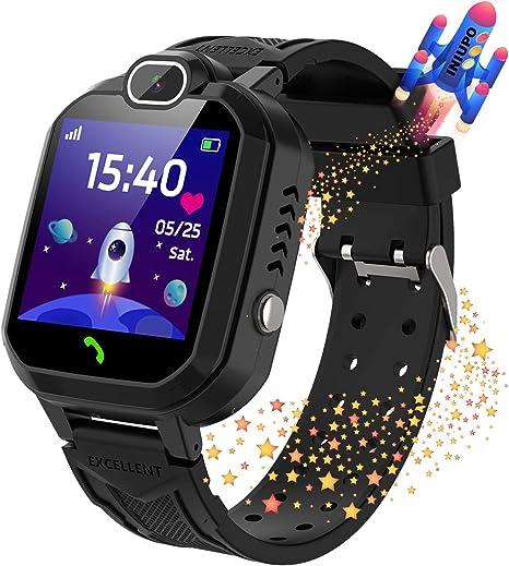 INIUPO Kids Smartwatch for Boys Girls Phone Game Smart Watch for kids Children Music Player Camera Alarm Clock Birthday Gift (Black)