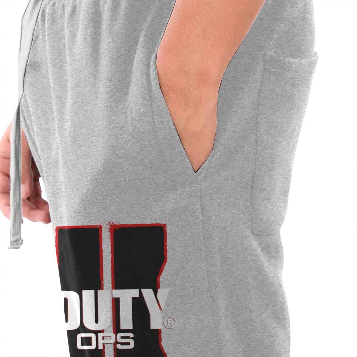 Kinggo Men Custom Call of Duty Black Ops 4 Zombies Logo Classic with Pockets Comfortable Pants Black