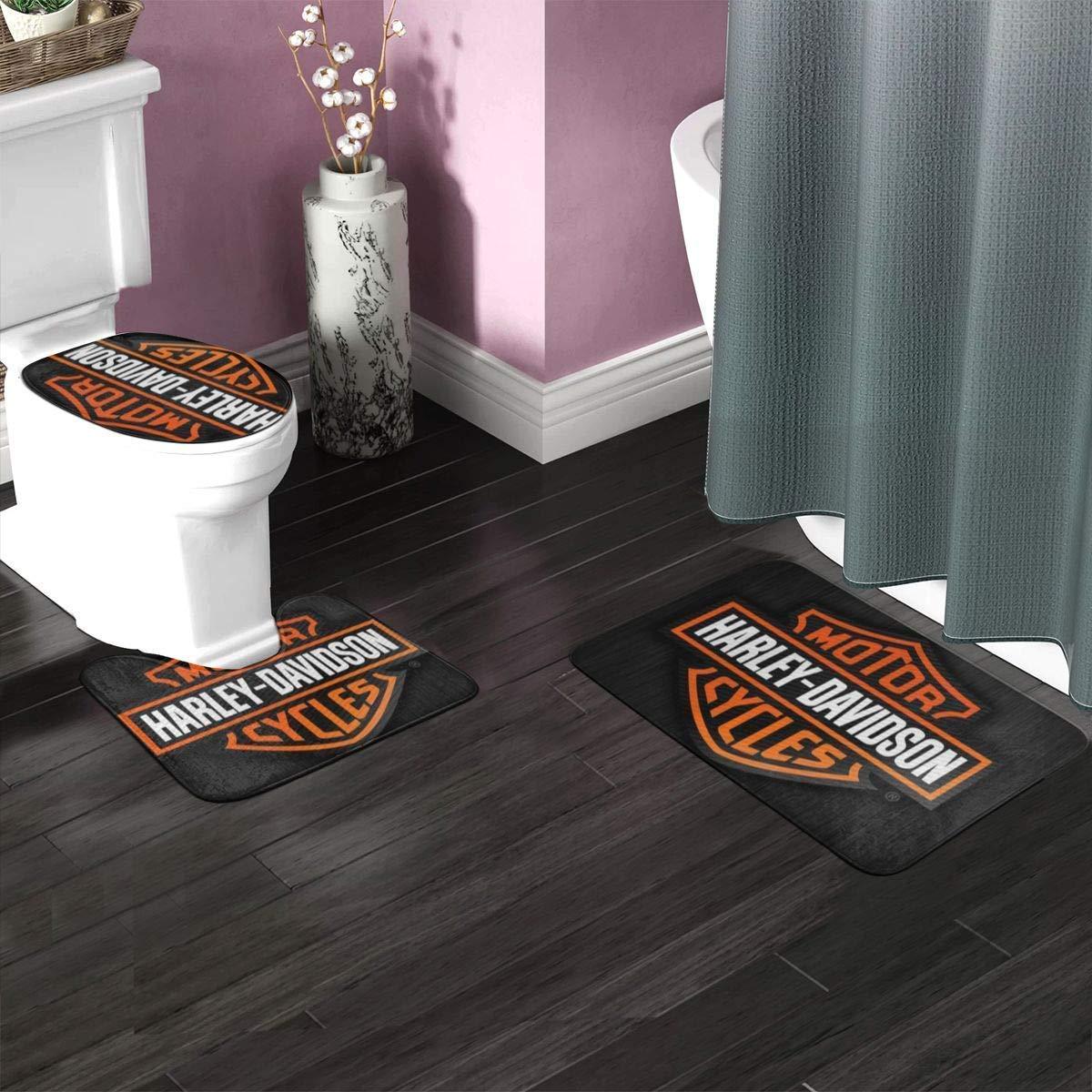 rainbowpig Har/_Ley David/_Son Tappetini da Bagno Antiscivolo assorbenti Set di 3 tappetini da Toilette 15.7  x 23.6