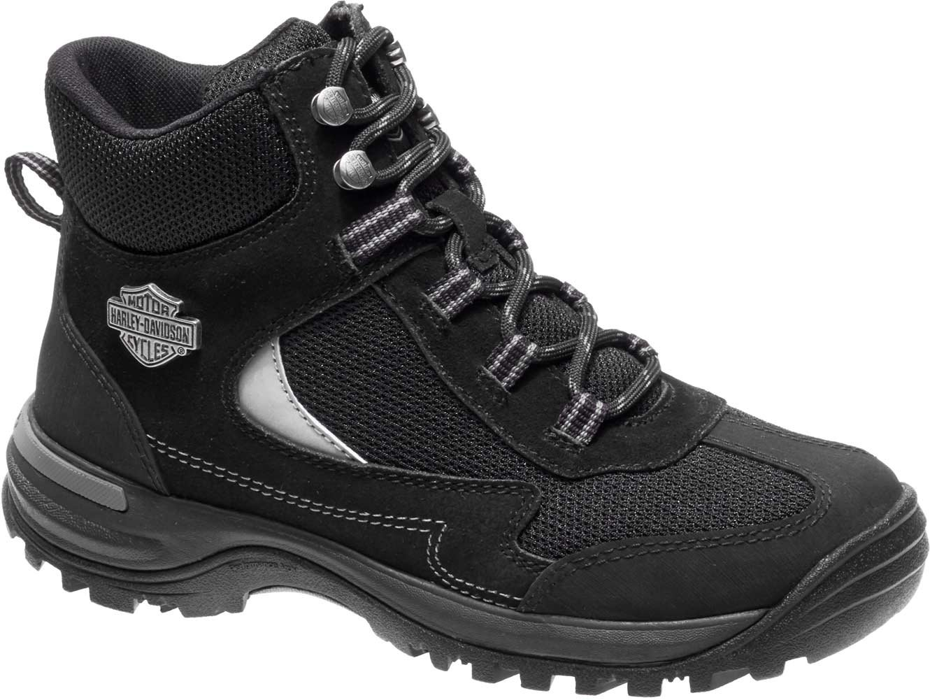 Harley-Davidson Women's Waites CT Industrial Shoe, Black, 7.5 Medium US