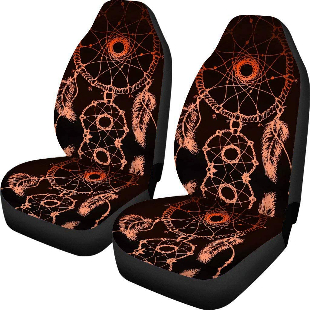 SUV Sedan /& Truck Simasoo Car Seat Cover Comfortable Seats Only Full Set of 2,Lovely Dog Footprints Universal Auto Front Seats for Most Car