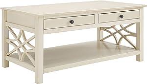 Linon Coffee Table, Antique White