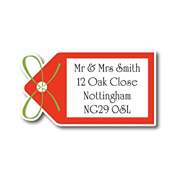 50 x 3cm personalised blue flower address labels stickers save the