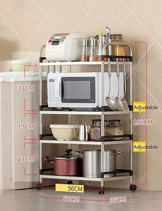 Amazon De Zxldp Kuchenregale Organizer Mikrowelle Ofen Rack Boden