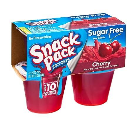 Snack Pack Sugar Free Cherry Juicy Gels, 3.25 OZ (Case of 12 ...