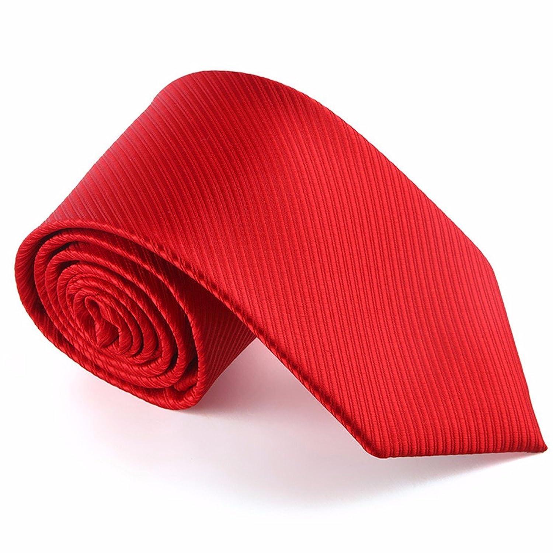 3c64ec4ba0a4 HXCMAN 8cm rojo rayas corbata Diseño clásico 100% seda corbata hombres  fiesta casual trabajo banquete