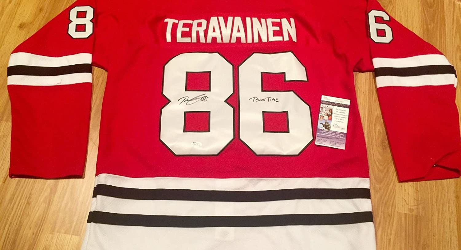 040dbd835 ... low price chicago blackhawks teuvo teravainen autographed signed jersey  psa coa photo proof teuvo time at ...