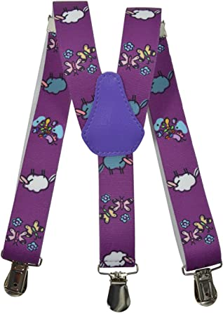 Childrens 1-5 Years Elasticated Clip on Braces//Suspenders with Sheep Design