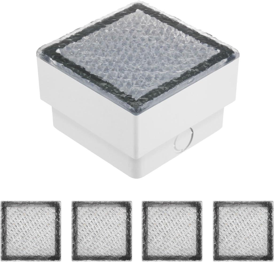 5er Pack Parlat LED Pflasterstein Bodenleuchte CUS 10x10cm 230V warm-wei/ß