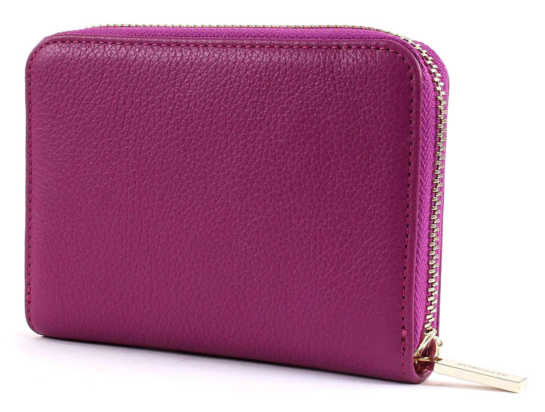 COCCINELLE Metallic Soft Zip Around Wallet Geldbörse Bubble Gum Rosa Neu
