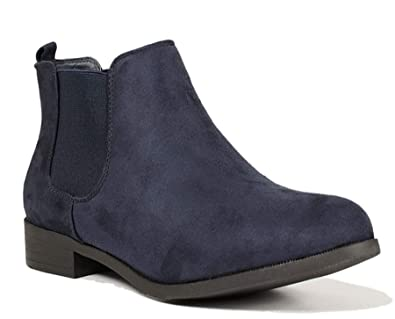 16f0a2f5e38 Ladies Womens Flat Low Block Heel Pull On Classic Chelsea Ankle Boots Shoes  Size