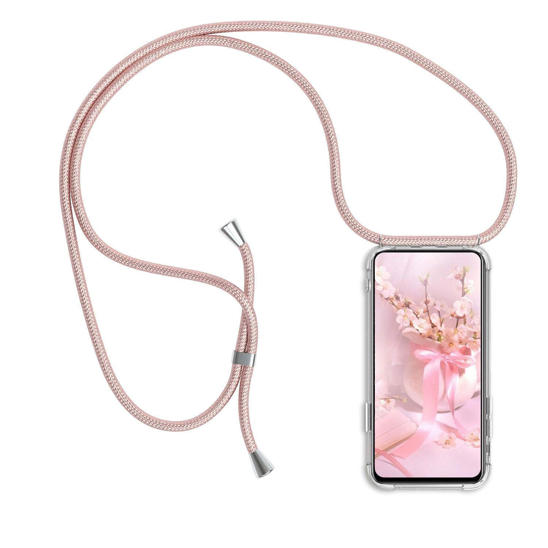 Carcasa con Cuerda para Xiaomi Redmi Note 5 Silicona Transparente Moda y Practico - Arco Iris Anti-rasgu/ños Anti-Choque Ultrafina Suave TPU Funda de movil con Colgante