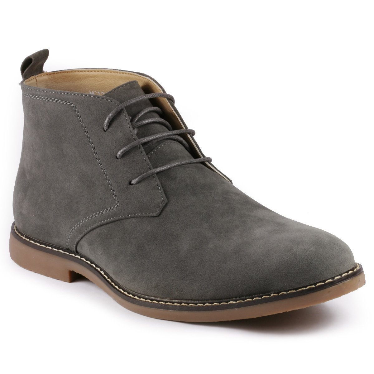Metrocharm MC127 Men's Lace up Casual Fashion Ankle Chukka Boots (12 D(M) US, Gray)