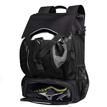Estarer Sportrucksack Schulrucksack Wasserabweisend Outdoor Rucksack 30l Mit Schuhfach Ballnetz Laptopfach Fur Schule Uni Reise Sport Wandern