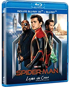 Spider-Man Lejos de Casa 3D (Spider-Man Far From Home 3D) Blu-ray 3D + Blu-ray (Languages: English, Spanish & French) REGION FREE