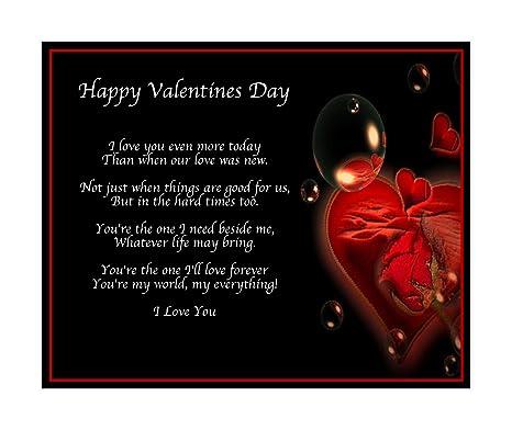 Amazonde Personalisierbar Happy Valentinstag Gedicht