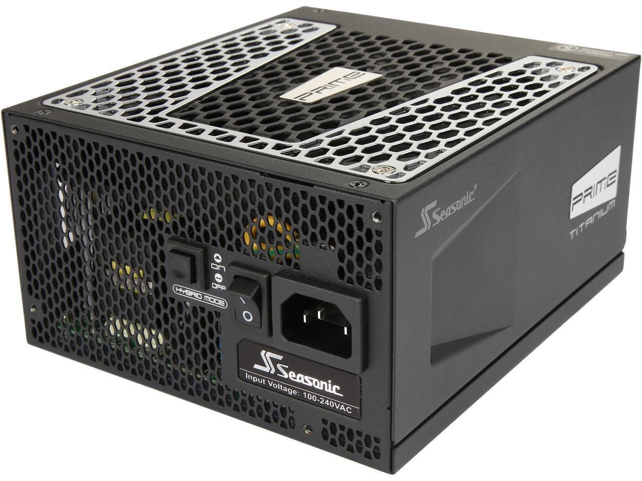 Seasonic PRIME Ultra 850W 80 PLUS Titanium Power Supply, Full Modular, 135mm FDB Fan w/Hybrid Fan Control, ATX12V & EPS12V, Poweron-Self Tester,- 12 yr Warranty SSR-850TR