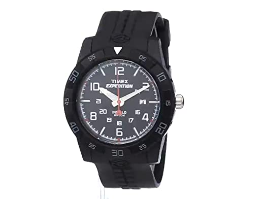 00ae244b7789 Amazon.com  Timex Men s T49831 Expedition Rugged Analog Black Resin Strap  Watch  Timex  Watches