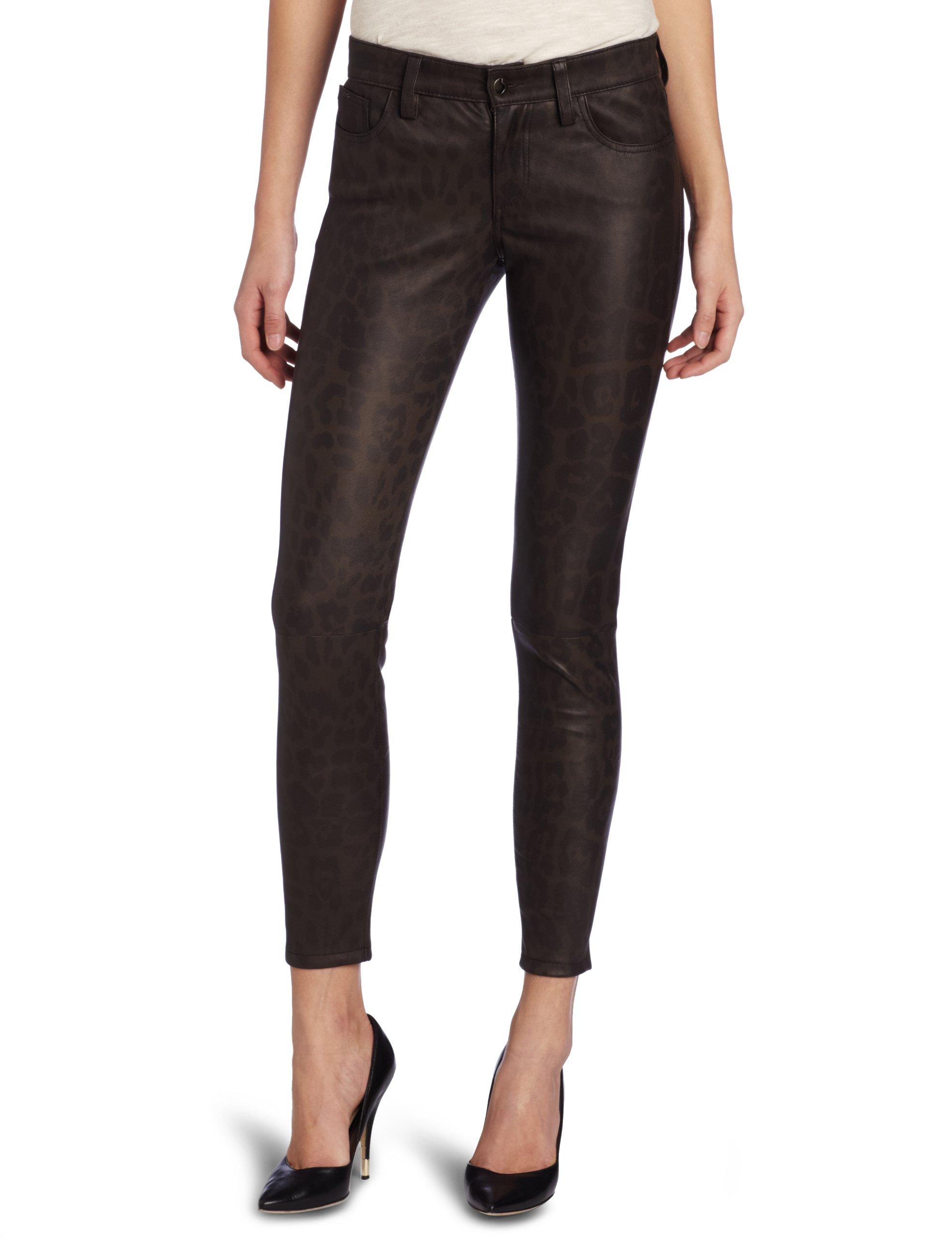 Joe's Jeans Women's Leopard Leather Skinny Ankle, Taupe, 29 by Joe's Jeans