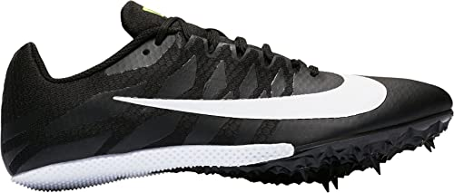 best service ff4f4 4ff9a Nike Men s Zoom Rival S 9 Track and Field Shoes(Black White, 4