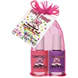 Piggy Paint 100% Non-Toxic Girls Nail Polish - Safe, Chemical Free Low Odor for Kids, Rainbow Sprinkles 2 Polish Gift Set