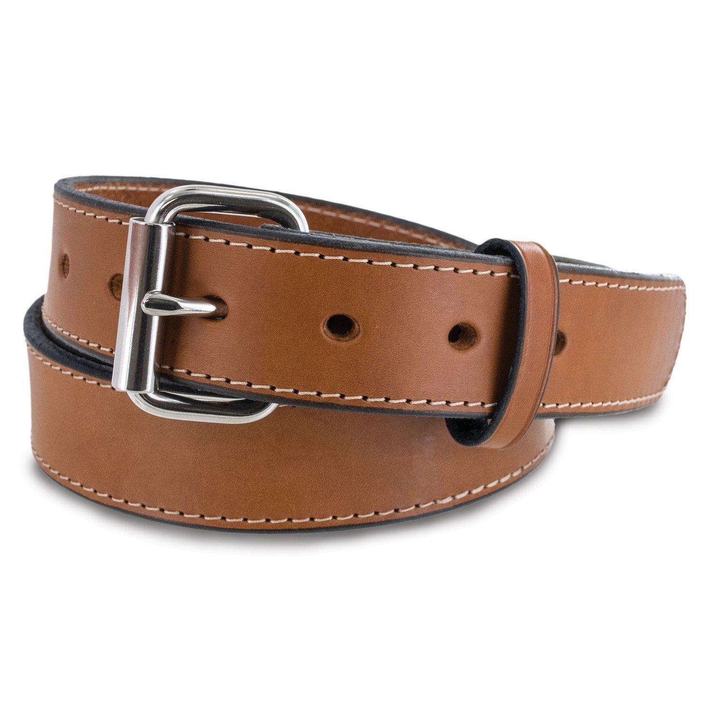 Hanks Stitch Gunner Belts - 1.5'' Best Vaue in A Concealed Carry Belt - USA Made 13OZ Leather - 100 Year Warranty - Oak - 50 by Hanks Belts