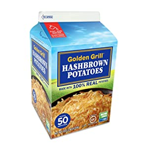GOLDEN GRILL Russet Premium Hashbrown Potatoes 33 oz. Makes 50 Servings