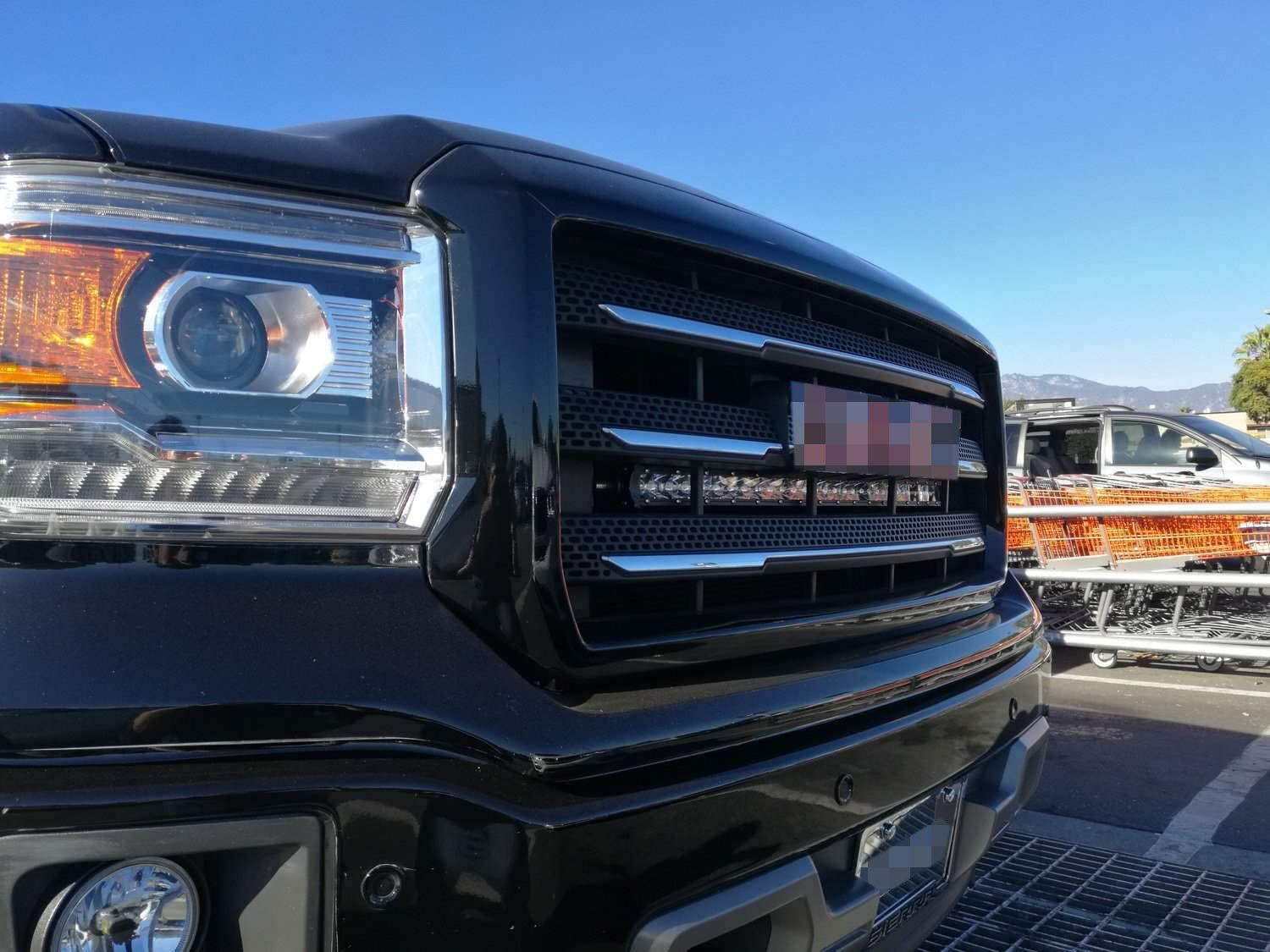 iJDMTOY Behind Grille Mount 30-Inch LED Light Bar Kit Compatible With 2014-18 GMC Sierra 1500 2500 3500 HD 1 150W CREE LED Lightbar Incl Mesh Grill Mounting Brackets /& On//Off Switch Wiring Kit