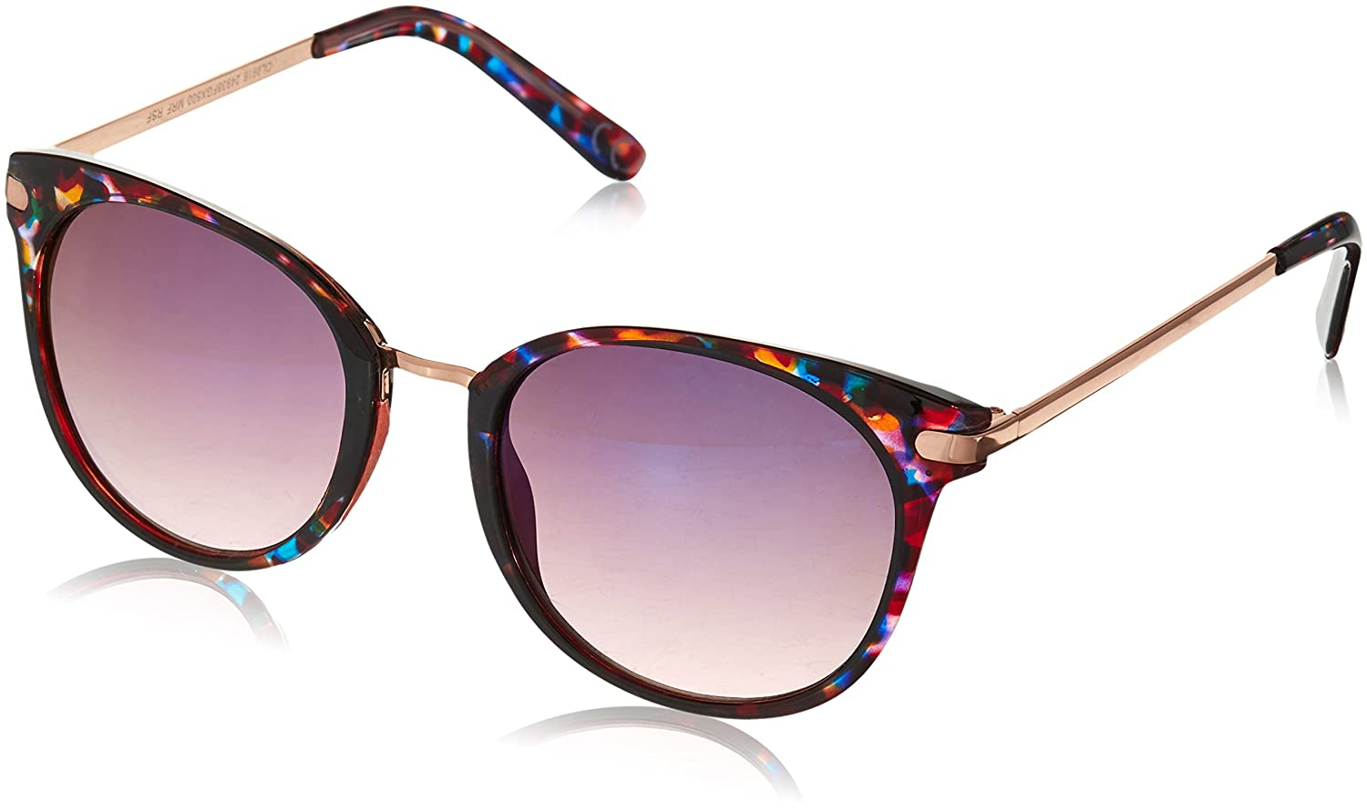 Foster Grant Women's 24938 Purple Round Sunglasses, Puple/Pink, 52 mm 10237023.RSF